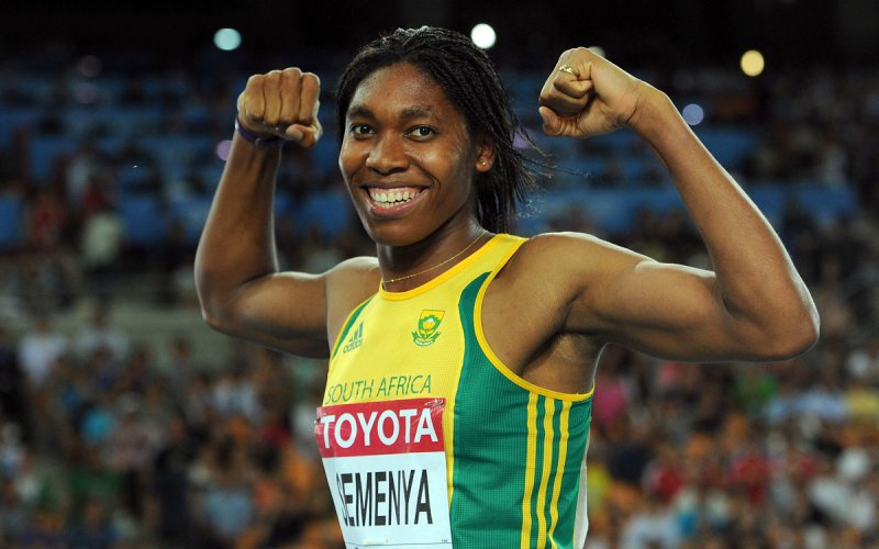 """La medallista de oro olímpica intersexual, Caster Semenya, ganadora del Premio """"Atleta del Año"""""""