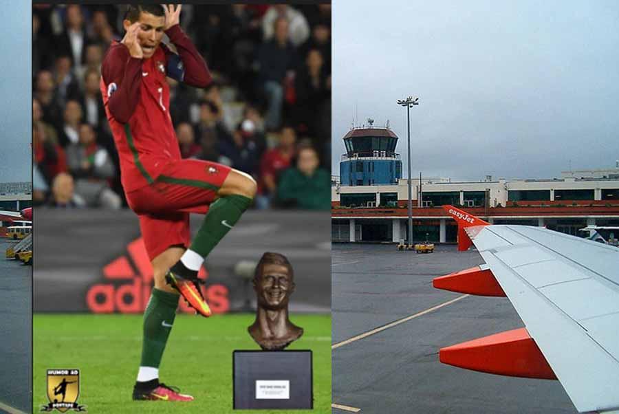 El horripilante busto de Cristiano Ronaldo del aeropuerto de Madeira revoluciona las redes sociales