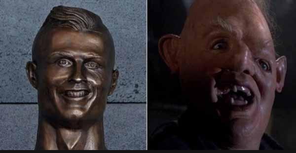 Meme de la estatua de Cristiano Ronaldo 1