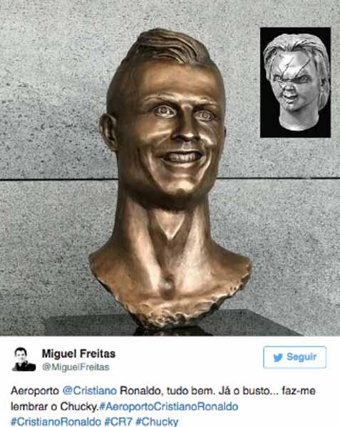 Meme de la estatua de Cristiano Ronaldo 10