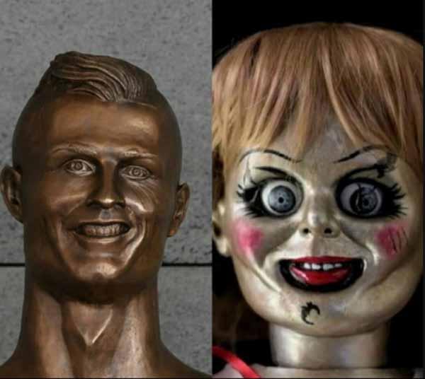 Meme de la estatua de Cristiano Ronaldo 2