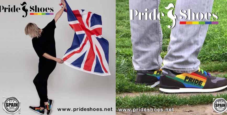La firma española gayfriendly Pride Shoes saca una edición limitada para el Orgullo de Brighton