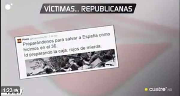 Tuit contra víctimas republicanas