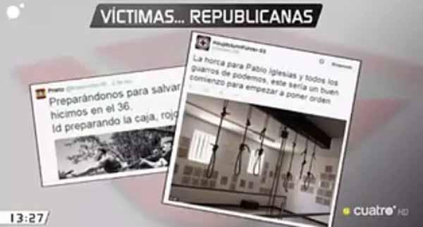 Tuit piden horca para Pablo Iglesias