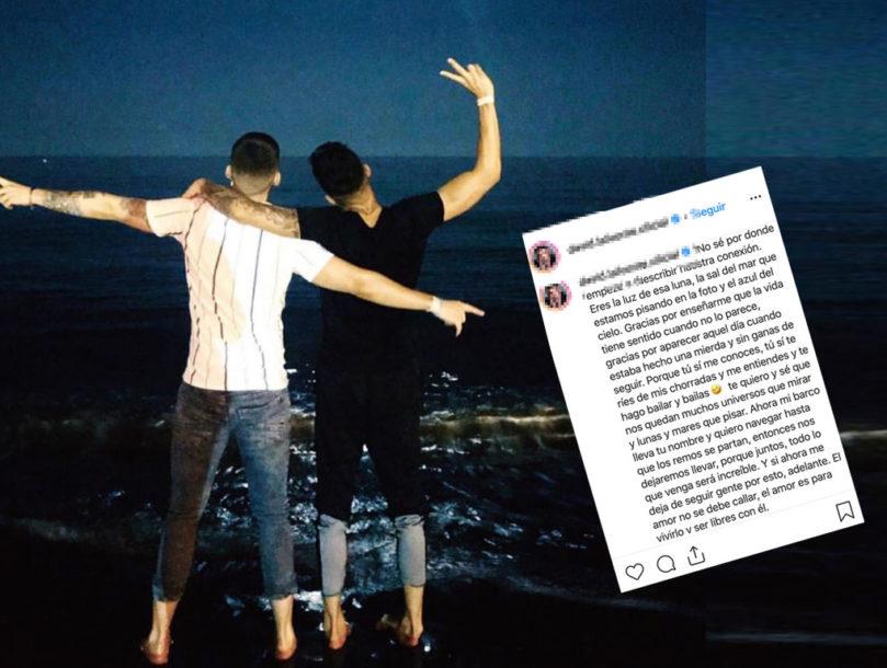 """David Lafuente, de """"Auryn"""", revela que es gay presentando a su novio"""