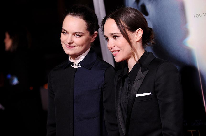 La actriz Ellen Page da inicio al nuevo año casándose con su novia, Emma Portner