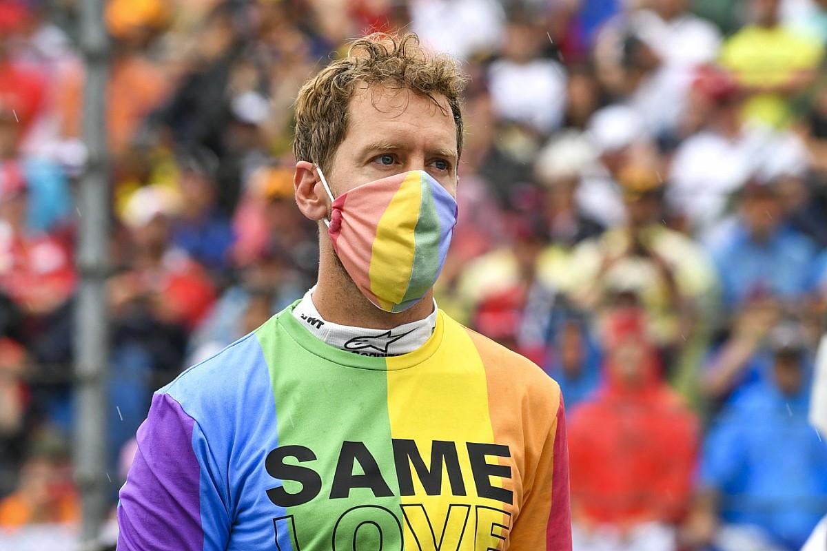 Vettel amonestado por llevar una camiseta LGTBIQ+ en el Gran Premio de Hungría